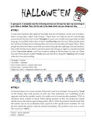 hallowe en scary stories in groups 3 4 students the following stories and choose the best