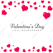 Carte De St Valentin Carte De Saint Valentin De Coeurs Roses Joyeuse Saint