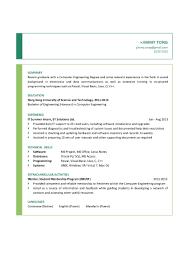 Download Resume Format Chemical Engineer Resume In Word Doc