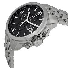 tissot prc 200 automatic chronograph black dial stainless steel tissot