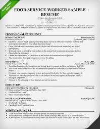 Templates For Resume Free Stunning Food Service Worker Resume Sample Use This Food Service Industry