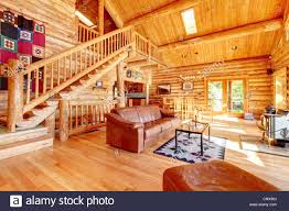 Log Cabin Living Room Design Large Luxury Log Cabin House Living Room With Large