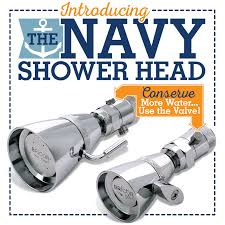bricor navy low flow shower heads promo square