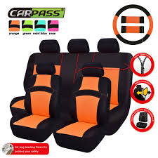 universal car seat covers steering wheel cover orange for woman for car suv