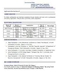Mca Resume Format For Freshers Node2003 Cvresume Paasprovider Com