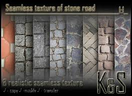 realistic road texture seamless. \u003cK\u0026S\u003e Seamless Texture Of Stone Road (8 Realistic Textures)
