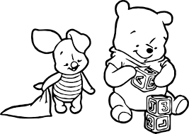 Baby Piglet Winnie The Pooh Play Cube Coloring Page Wecoloringpage