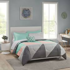 teal 8 pc bed in a bag bedding set
