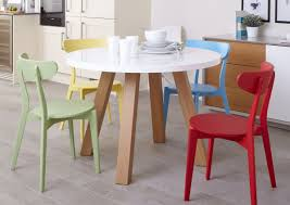 mix and match dining set arc oak and white gloss and senn colourful dining set