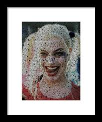Harley Quinn Quotes Amazing Harley Quinn Quotes Mosaic Framed Print By Paul Van Scott