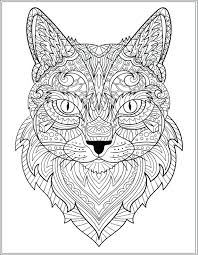 Cat Coloring Pages For Adults Printable Cats Coloring Page The Cat
