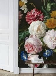 Zelfklevend Behang Vaas Bloemen Zwart 250x250cm Tapetshow