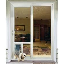 sliding door with dog door