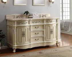 Adelina 64 Inch Antique Pastel Finish Double Sink Bathroom Vanity 64 Inch Double Sink Bathroom Vanity