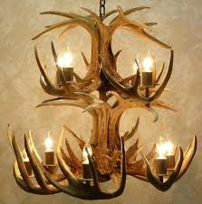 real antler chandelier 2 tier whitetail the chief real antler chandelier cabin decor in in natural