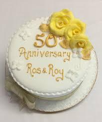 Golden 50th Wedding Anniversary Cake The Cake Box