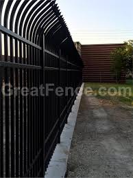 Decorative Security Fencing Security Aluminum Metal Fence Panels With Curved Pickets