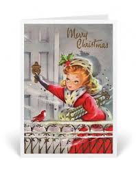 Retro Holidays 1950s Vintage Christmas Holiday Card Retro Holiday Cards For Women