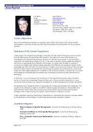 Model Of Resume Format Sarahepps Com