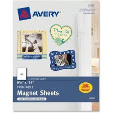 avery printable inkjet magnet sheets x white pack  avery printable inkjet magnet sheets 8 1 2 x 11 white 5