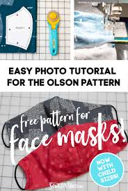 the olson face mask pattern child