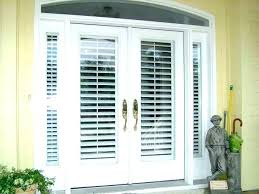 wood french doors r door with built in blinds sliding patio between pella exterior front entry reviews