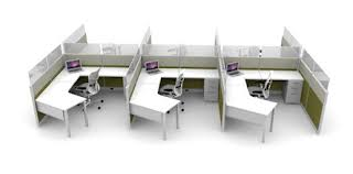 open office concept. open concept cubicle design office