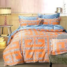 blue grey bedding arabesque orange geometric bedding sets queen king size cotton print fabric geometry blue grey bed sheets blue grey bedding sets