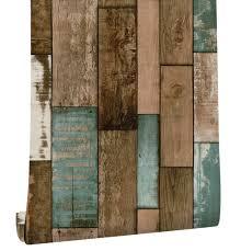 Haokhome Vintage Houten Plank Behang Voor Muren 3d Zelfklevende
