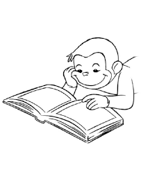 Small Picture Curious george coloring pages reading book ColoringStar
