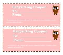 8 Babysitting Coupon Templates Psd Ai Indesign