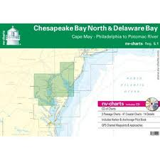 Potomac River Charts Nv Charts Reg 5 1 Chesapeake Bay North Delaware Bay Cape May Philadelphia To Potomac River