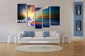 5 Piece Guitar Colorful Music Multi Panel Canvas Modern Artwork For Living Room