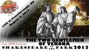 the two gentlemen of verona shakespeare in the park