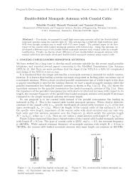 Folded Monopole Design Double Folded Monopole Antenna With Coaxial Cable Manualzz Com