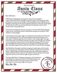 Free Letter From Santa Word Template Letter From Free Printable Stationery The North Pole Santa