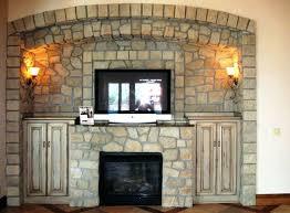 StackedstoneveneerKitchenModernwithledgestoneslatestack Stacked Stone Veneer Fireplace