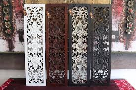 Hand carved wooden wall panel for home decor available to wholesale order with differents models, colors and measures. New Balinese Carved Mdf Wood Mandala Tropical Wall Panels Bamboo Wall Art Carved Wood Wall Decor Carved Wood Wall Art Wood Wall Decor