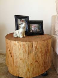 charmful tree stump coffee table tree trunk