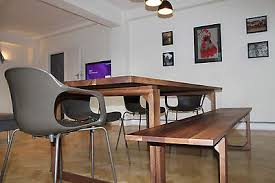 distinctive handmade bespoke solid american black walnut dining table givendale