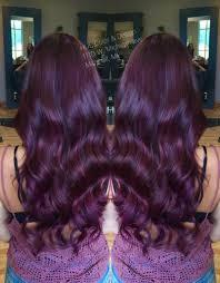 Violet Red Hair Color With Matrix Color Line Socolor Hair