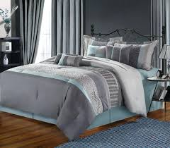 aqua and gray bedding blue grey black