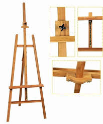 bamboo adjule artist painting easel tripod stand for painting oem avaliable
