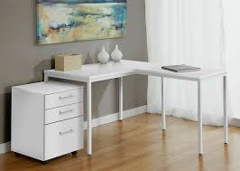 incredible white l shaped desk modern white l shaped corner parsons desk with mobile file