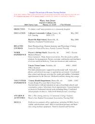 Ingenious Design Ideas Nursing Student Resume 1 Example Nurse Cv