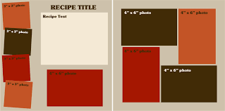 Recipe Page Layout Choubox Article Family Recipe Scrapbook