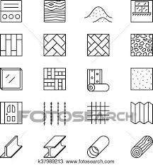 建築材料 線 ベクトル アイコン クリップアート切り張りイラスト絵画集