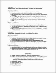Air Force Resume Example Military Skills To Put A Resume Free Download