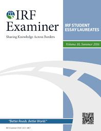 irf examiner volume 10 irf student essay laureates