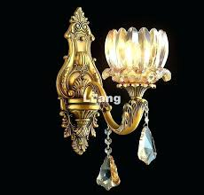 brass crystal chandelier made in spain conical four light antique